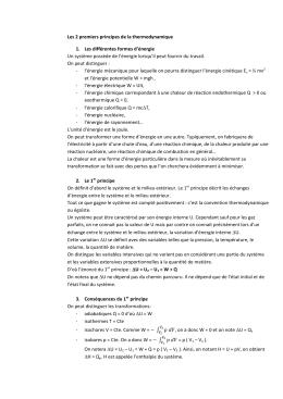 principe de la thermodynamique pdf