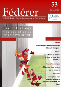 Le Bulletin des Psychologues et de la Psychologie