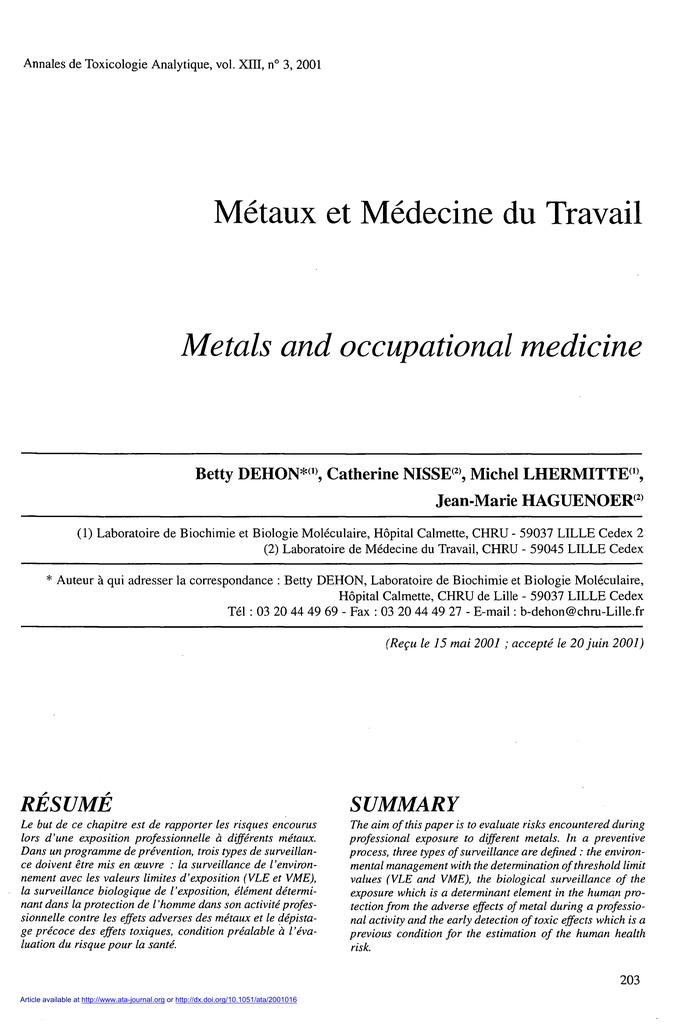 medecine du travail 03