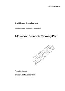 A European Economic Recovery Plan