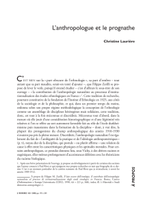 L`anthropologue et le prognathe