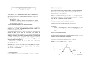 TD N°6 DE THERMODYNAMIQUE 1ERE ANNEE – DPT HMF On
