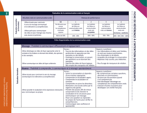 L`enseignement de la communication orale : document d`orientation