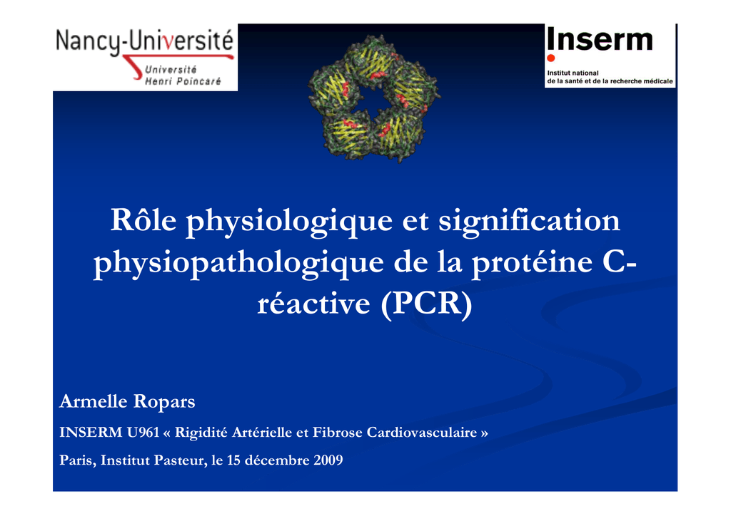 proteine c reactive elevee signification