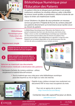 Patient Education Brochure Version X6 FR