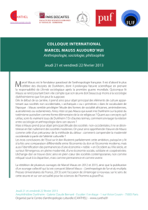 COLLOQUE INTERNATIONAL MARCEL MAUSS