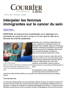 Interpeler les femmes immigrantes sur le cancer du sein – Courrier