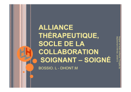 Alliance thérapeutique, socle de la collaboration