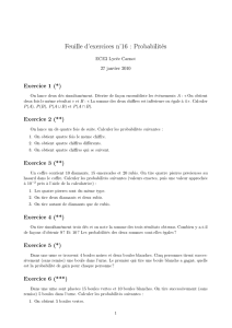 Feuille d`exercices n°16