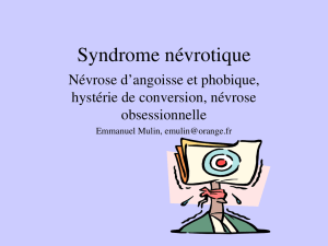 Syndrome névrotique
