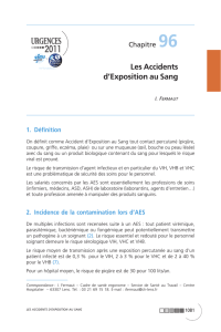 Les Accidents d`Exposition au Sang