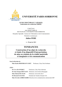 UNIVERSITÉ PARIS-SORBONNE TENDANCES