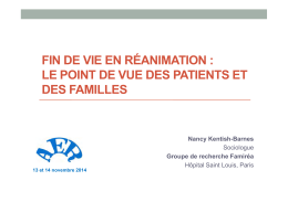 fin de vie en réanimation : le point de vue des patients - JIVD