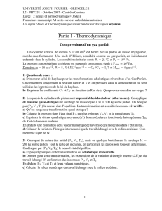 Partie 1 - Thermodynamique
