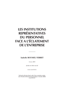 les institutions représentatives du personnel face a l - CFE-CGC