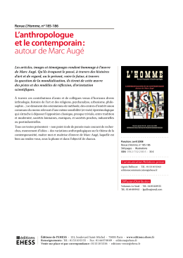 L`anthropologue et le contemporain