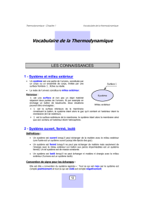 1.Vocabulaire de la thermodynamique