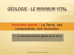 Le fonctionnement global de la Terre
