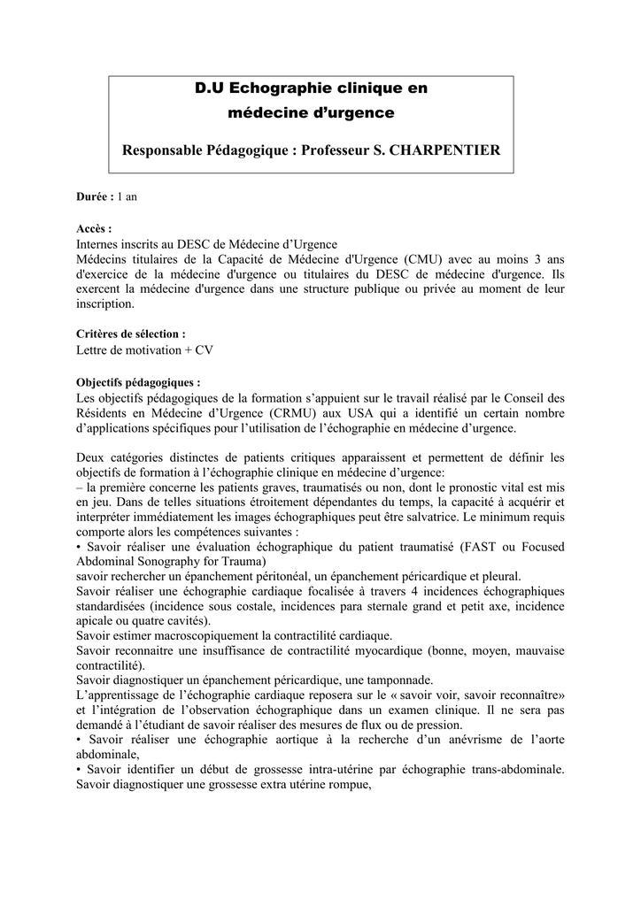 echographie clinique en m u00e9decine d urgence