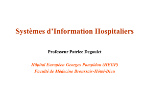 Systèmes d`Information Hospitaliers