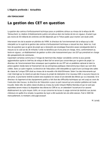 La gestion des CET en question