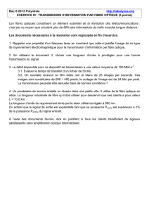 Transmission d`information par fibre optique