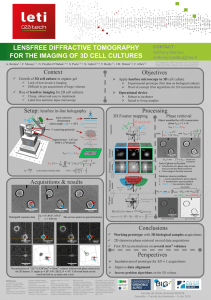 Lensfree diffractive tomography for the imaging of 3D cell cultures