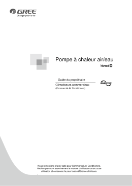 Versati II pompe à chaleur air eau manual