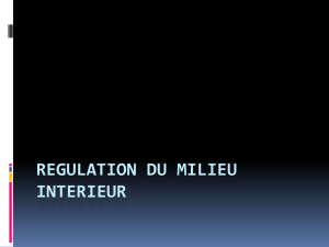 REGULATION DU MILIEU INTERIEUR