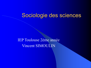 Sociologie des sciences - Université Toulouse 1 Capitole