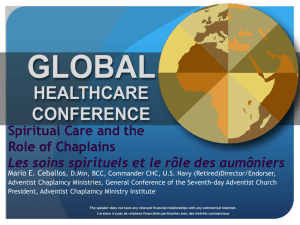 Spiritual Care and the Role of Chaplains