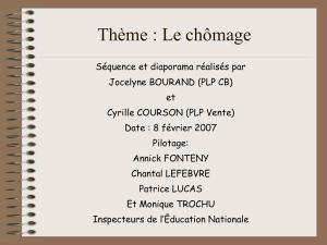 Le chomage support élève diaporama