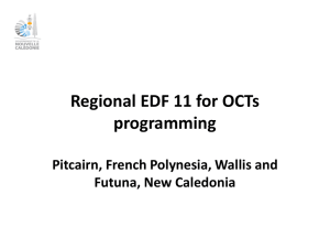 Regional EDF 11 for OCTs programming Pitcairn, French Polynesia