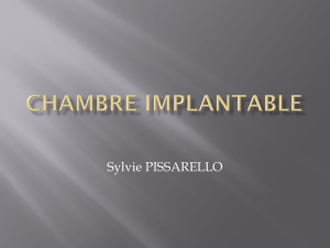 chambre implantable - le site de la promo 2006-2009