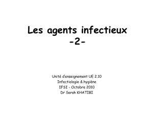 Les agents infectieux - E