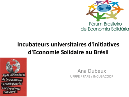 Incubateurs universitaires d`initiatives d`Economie Solidaire au