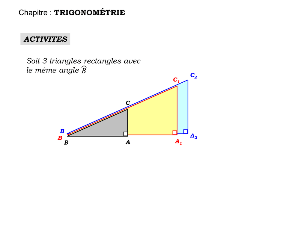 soit un triangle rectangle