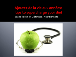 CACPUQ 2012 Joane Routhier supercharge your diet