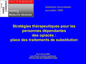 place des traitements de substitution