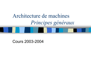 Architecture de machines