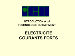 introduction a la technologie du batiment electricite courants forts