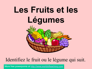 french for fruit and vegetables names