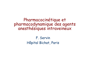 Pharmacocinétique et pharmacodynamique des agents