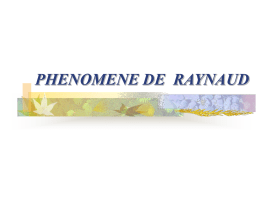 phenomene de raynaud