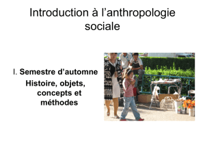 Introduction à l`anthropologie sociale
