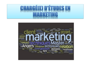 Chargé(e) d`études en marketing