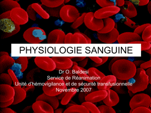 Physiologie sanguine
