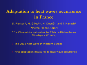 "Mr. Serge Planton, Météo France - ""Adaptation to heat"