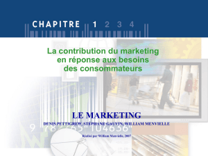 Qu`est-ce que le marketing?