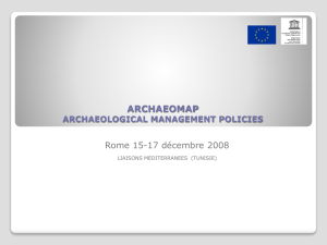 archaeomap archaeological management policies